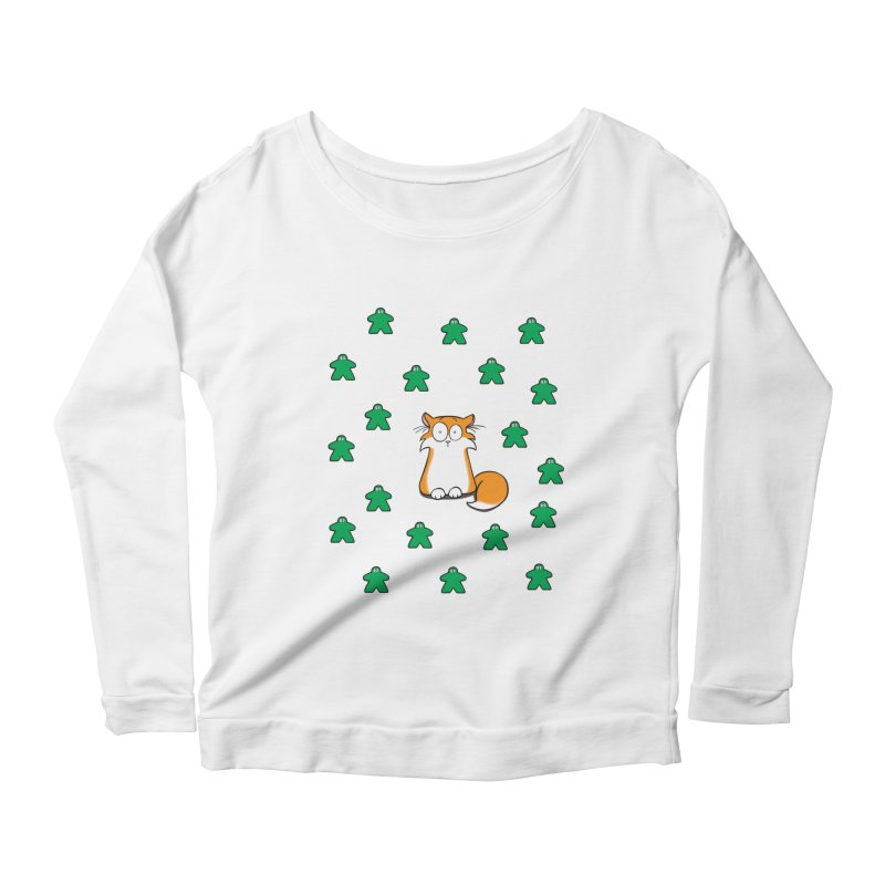 Apollo and the Meeples Women's Scoop Neck Longsleeve T-Shirt by Semi Co-op