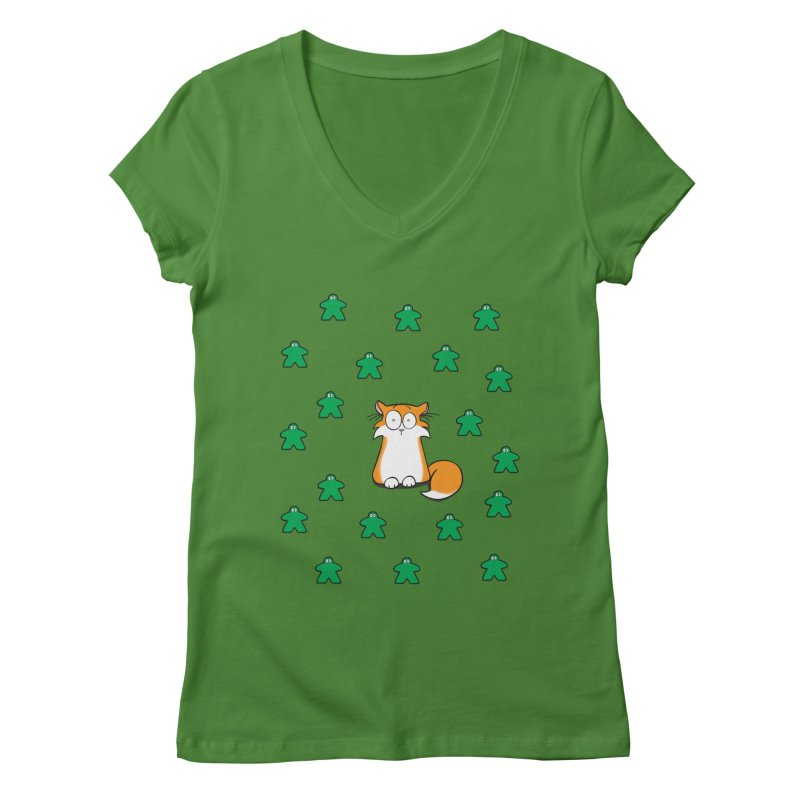 Apollo and the Meeples Women's Regular V-Neck by Semi Co-op