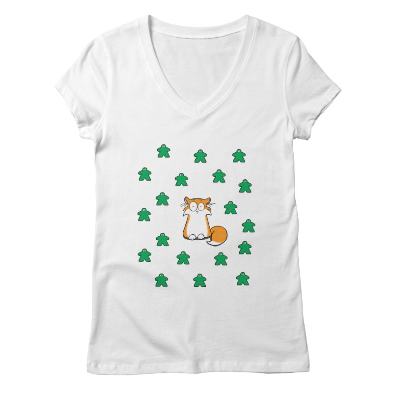 Apollo and the Meeples Women's V-Neck by Semi Co-op
