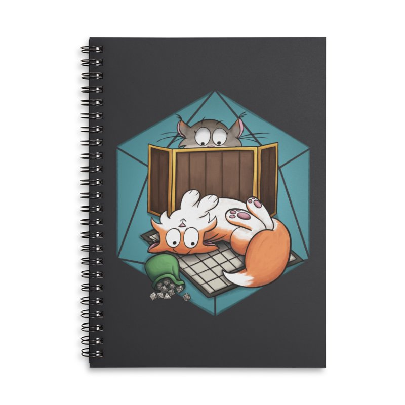 Cats & Catacombs Accessories Lined Spiral Notebook by Semi Co-op