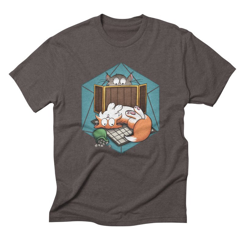 Cats & Catacombs Men's Triblend T-Shirt by Semi Co-op