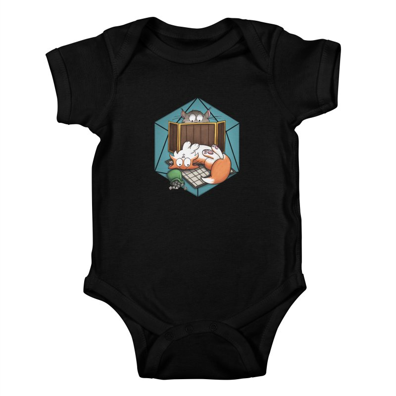 Cats & Catacombs Kids Baby Bodysuit by Semi Co-op