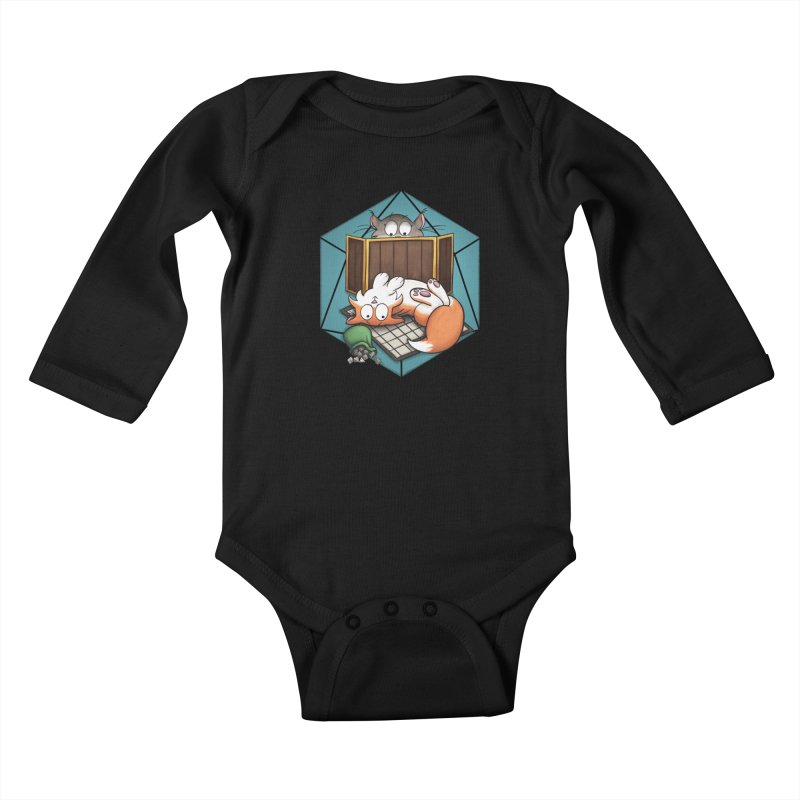 Cats & Catacombs Kids Baby Longsleeve Bodysuit by Semi Co-op