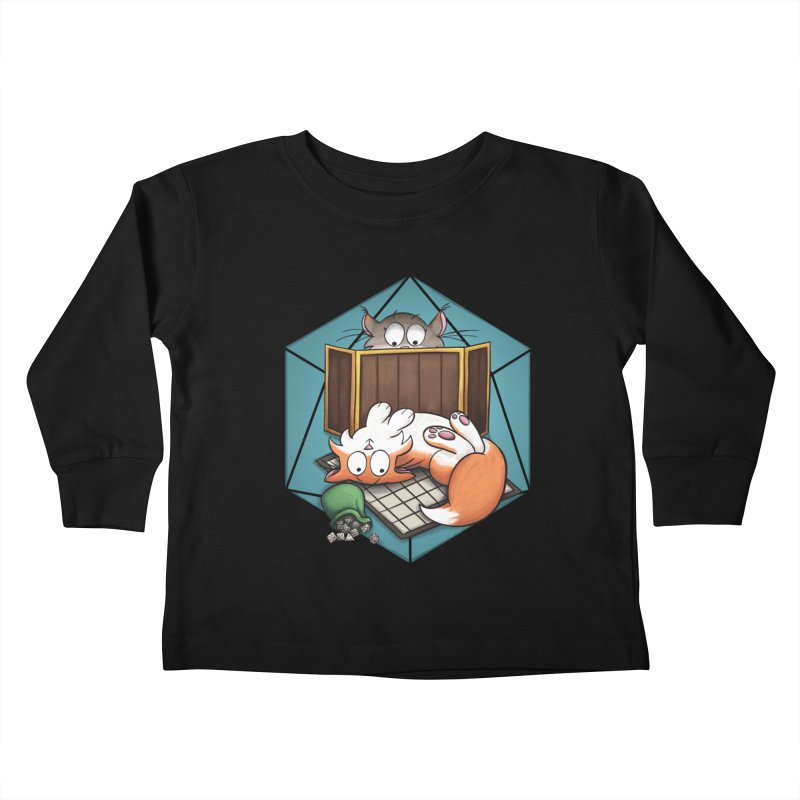 Cats & Catacombs Kids Toddler Longsleeve T-Shirt by Semi Co-op