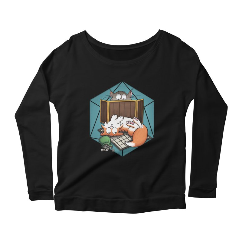 Cats & Catacombs Women's Scoop Neck Longsleeve T-Shirt by Semi Co-op
