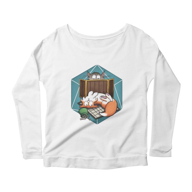 Cats & Catacombs Women's Scoop Neck Longsleeve T-Shirt by Semi Co-op
