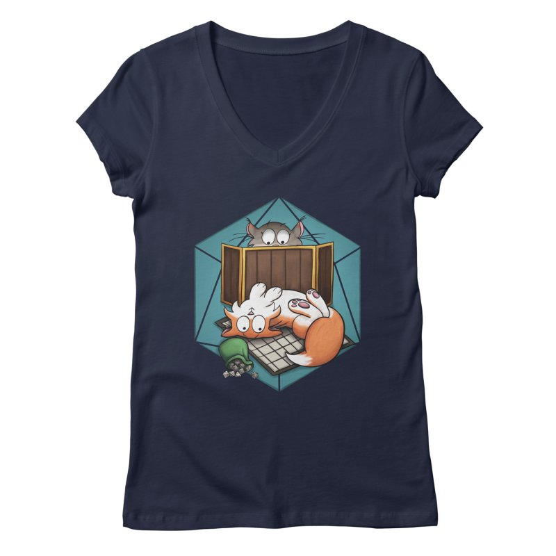 Cats & Catacombs Women's Regular V-Neck by Semi Co-op