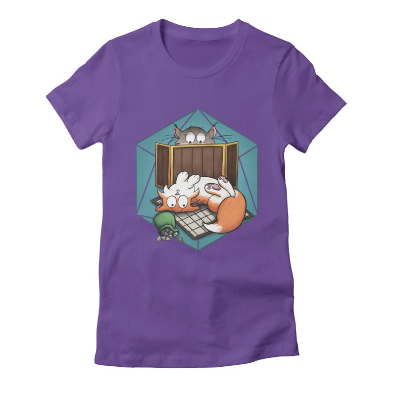 Cats & Catacombs Women's Fitted T-Shirt by Semi Co-op