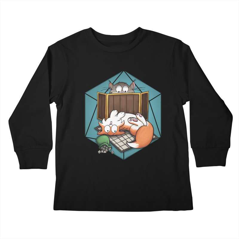 Cats & Catacombs Kids Longsleeve T-Shirt by Semi Co-op