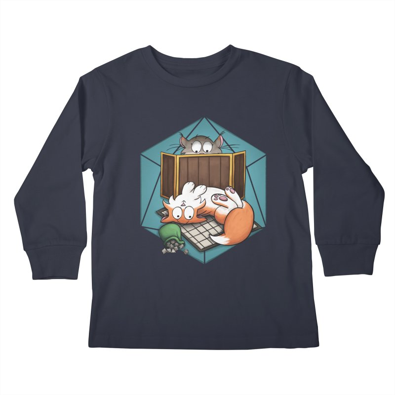 Cats & Catacombs Kids Longsleeve T-Shirt by Semi Co-op
