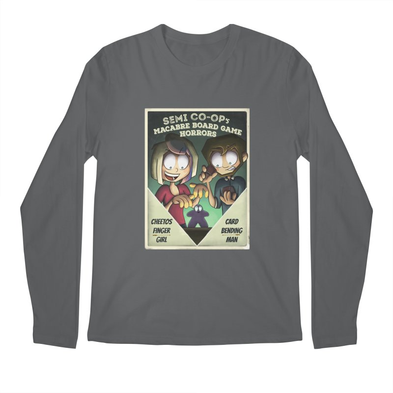 Board Game Horrors! Men's Longsleeve T-Shirt by Semi Co-op