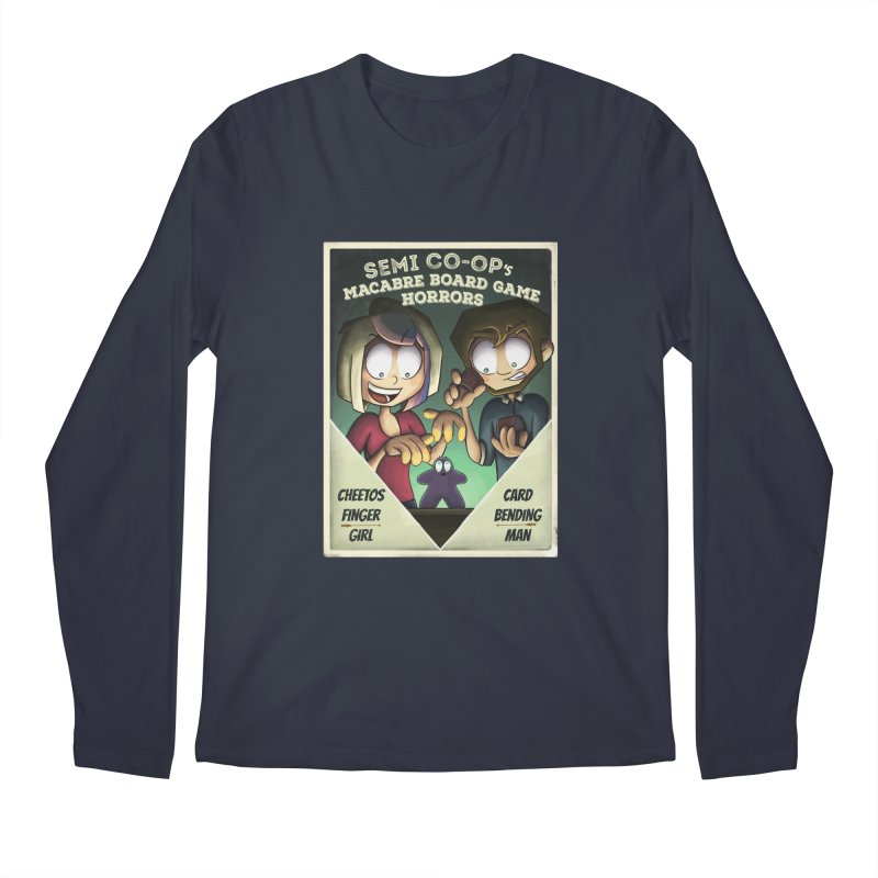 Board Game Horrors! Men's Regular Longsleeve T-Shirt by Semi Co-op