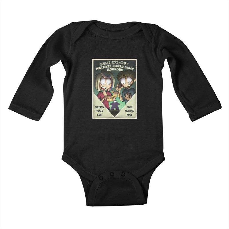 Board Game Horrors! Kids Baby Longsleeve Bodysuit by Semi Co-op