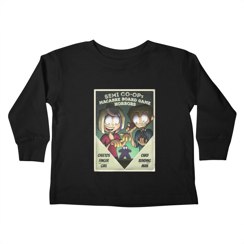 Board Game Horrors! Kids Toddler Longsleeve T-Shirt by Semi Co-op