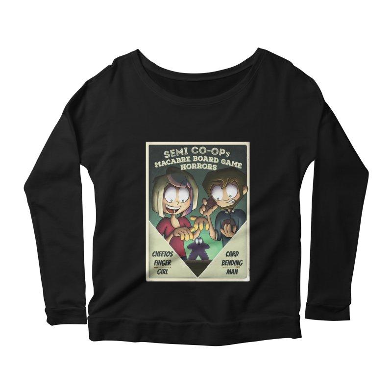 Board Game Horrors! Women's Scoop Neck Longsleeve T-Shirt by Semi Co-op