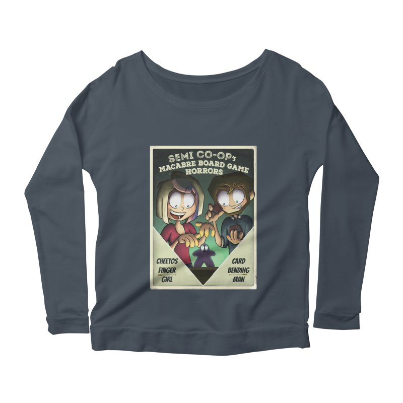 Board Game Horrors! Women's Scoop Neck Longsleeve T-Shirt by Semi Co-op
