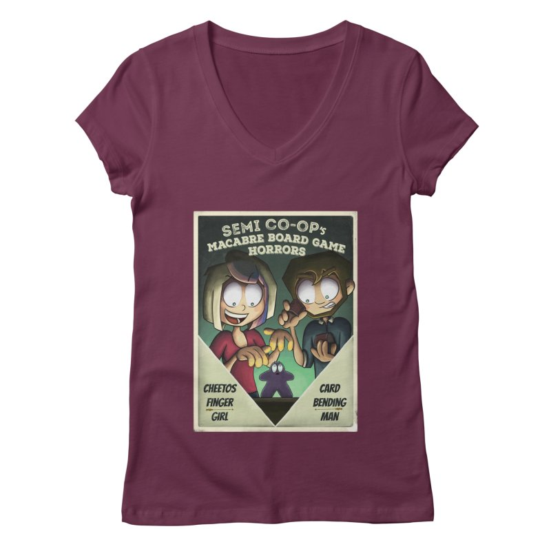 Board Game Horrors! Women's Regular V-Neck by Semi Co-op