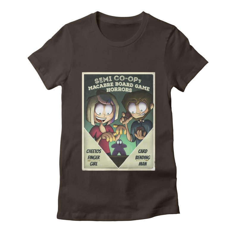 Board Game Horrors! Women's Fitted T-Shirt by Semi Co-op