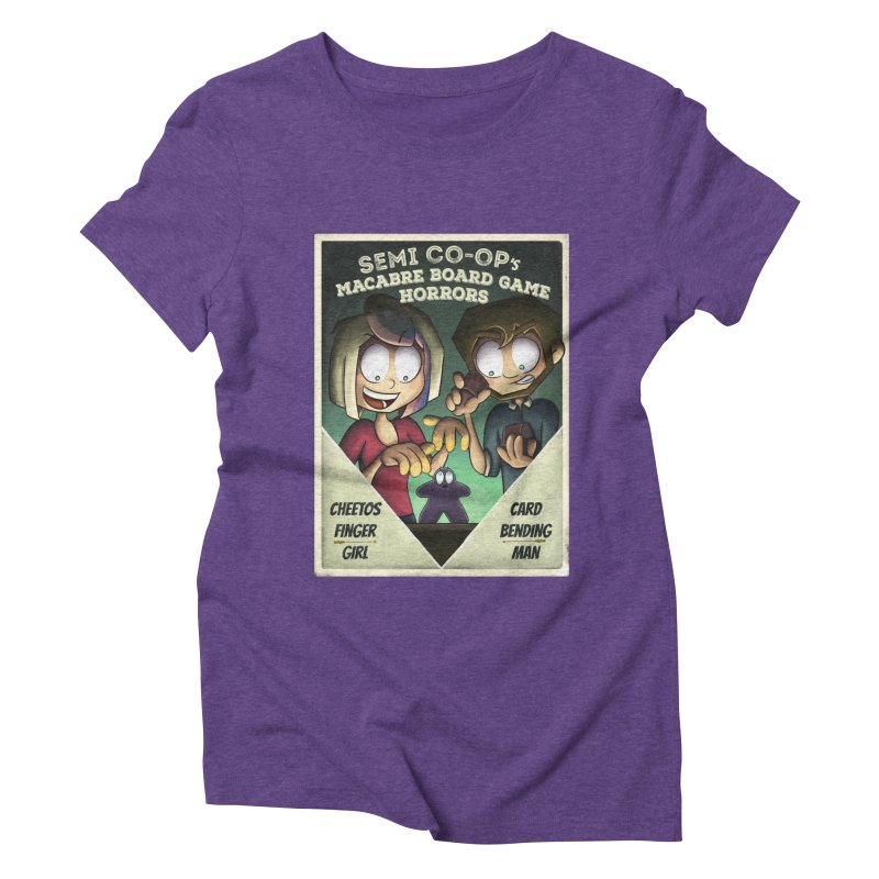 Board Game Horrors! Women's Triblend T-Shirt by Semi Co-op