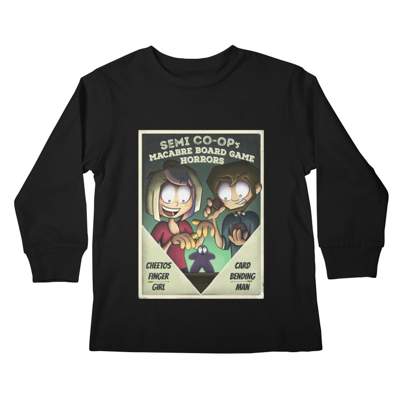 Board Game Horrors! Kids Longsleeve T-Shirt by Semi Co-op