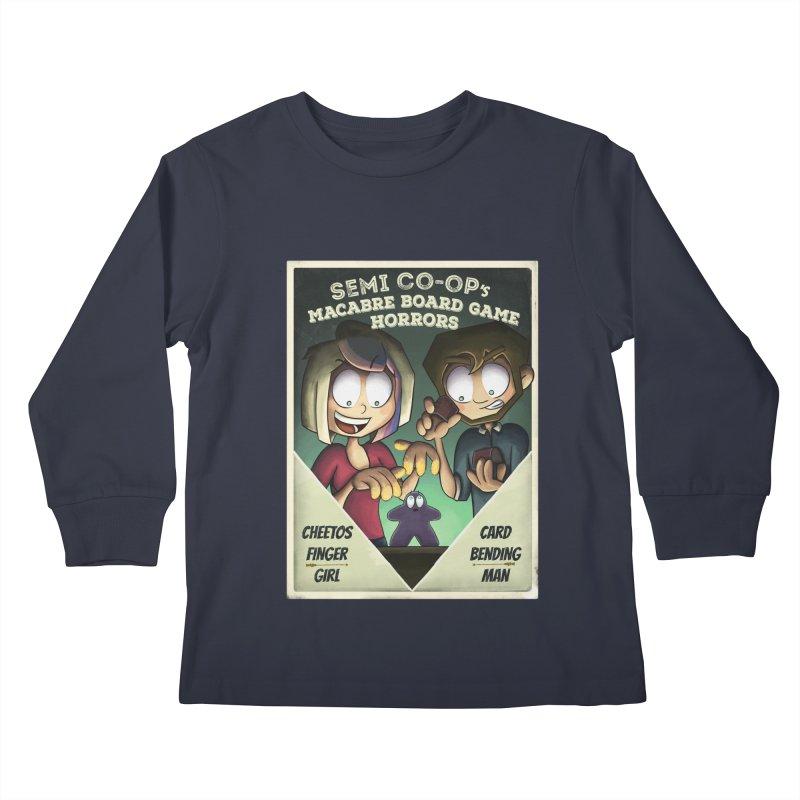 Board Game Horrors! Kids Longsleeve T-Shirt by Semi Co-op