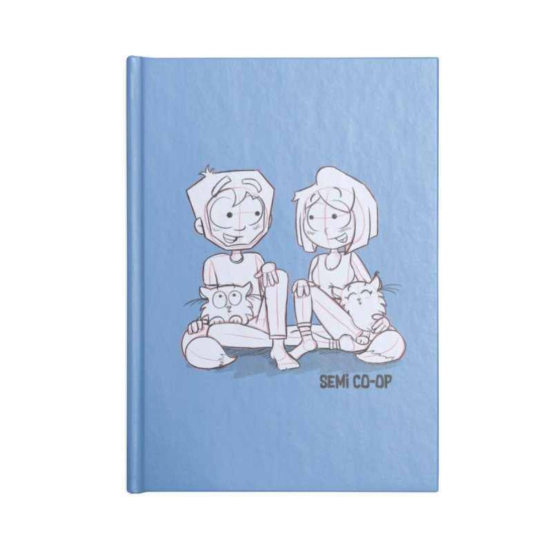 Sketchy Accessories Lined Journal Notebook by Semi Co-op