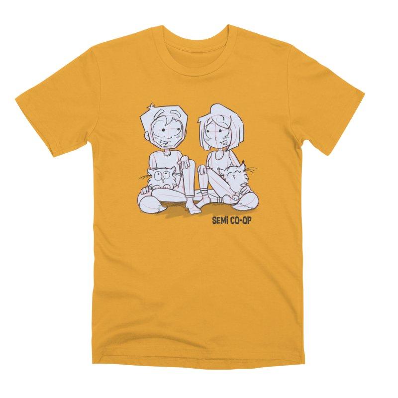 Sketchy Men's Premium T-Shirt by Semi Co-op