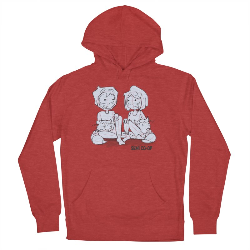 Sketchy Women's French Terry Pullover Hoody by Semi Co-op