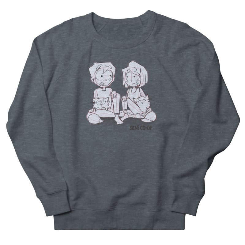 Sketchy Men's French Terry Sweatshirt by Semi Co-op