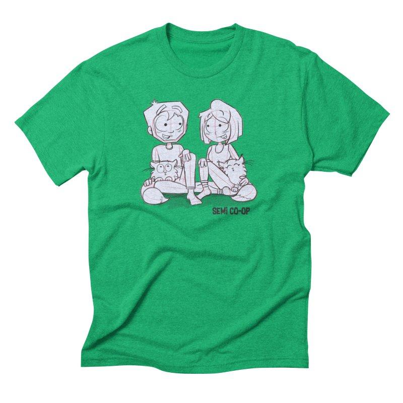 Sketchy Men's Triblend T-Shirt by Semi Co-op