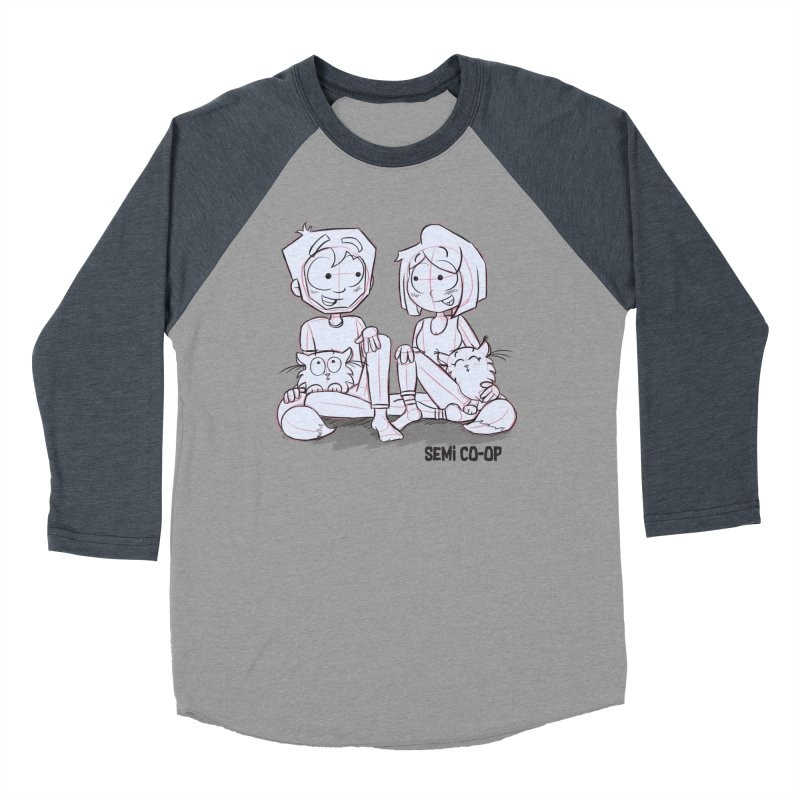 Sketchy Women's Baseball Triblend Longsleeve T-Shirt by Semi Co-op