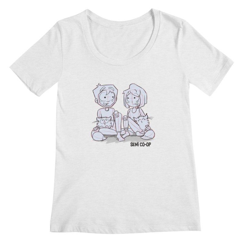 Sketchy Women's Regular Scoop Neck by Semi Co-op