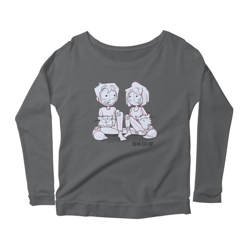Sketchy Women's Scoop Neck Longsleeve T-Shirt by Semi Co-op
