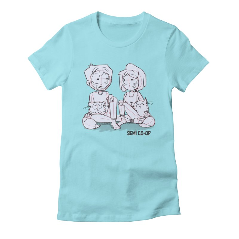 Sketchy Women's Fitted T-Shirt by Semi Co-op