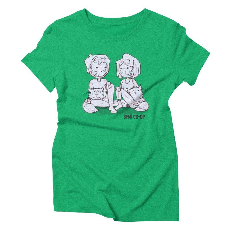 Sketchy Women's Triblend T-Shirt by Semi Co-op