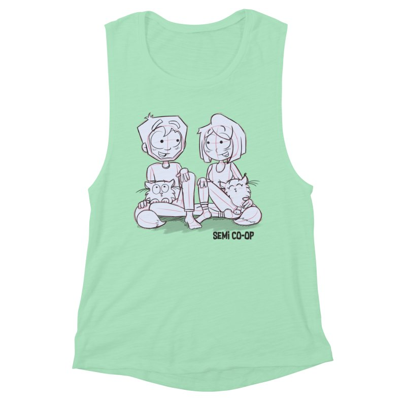 Sketchy Women's Muscle Tank by Semi Co-op