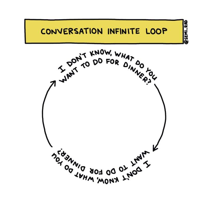 Conversation Infinite Loop by Semi-Rad's Artist Shop
