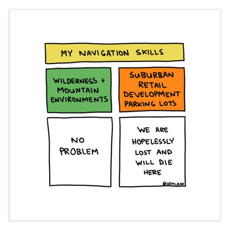 My Navigation Skills Home Fine Art Print by Semi-Rad's Artist Shop