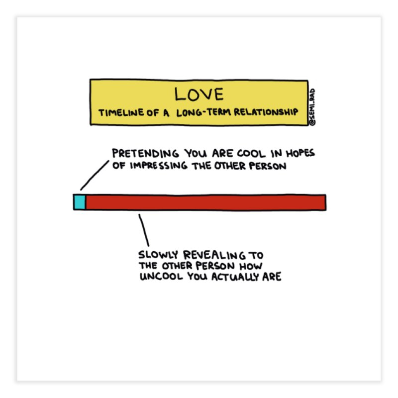 Love and Being Cool Home Fine Art Print by Semi-Rad's Artist Shop