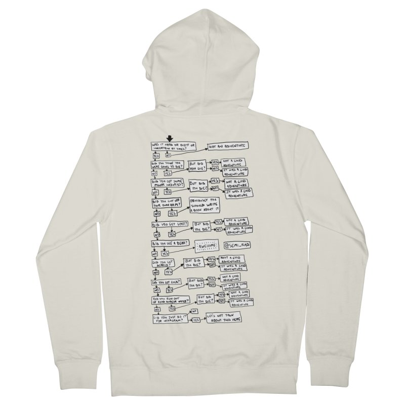 Did You Have A Good Adventure? Men's Zip-Up Hoody by Semi-Rad's Artist Shop