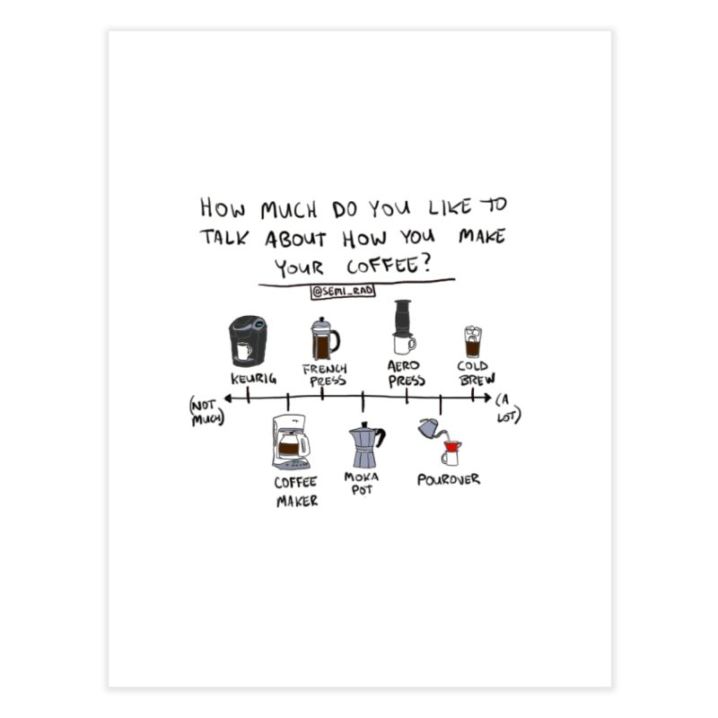 Let's Talk About Making Coffee Home Fine Art Print by Semi-Rad's Artist Shop