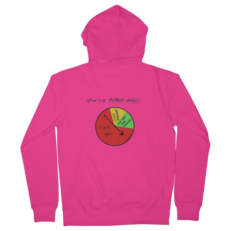 Spin The Monday Wheel Men's Zip-Up Hoody by Semi-Rad's Artist Shop