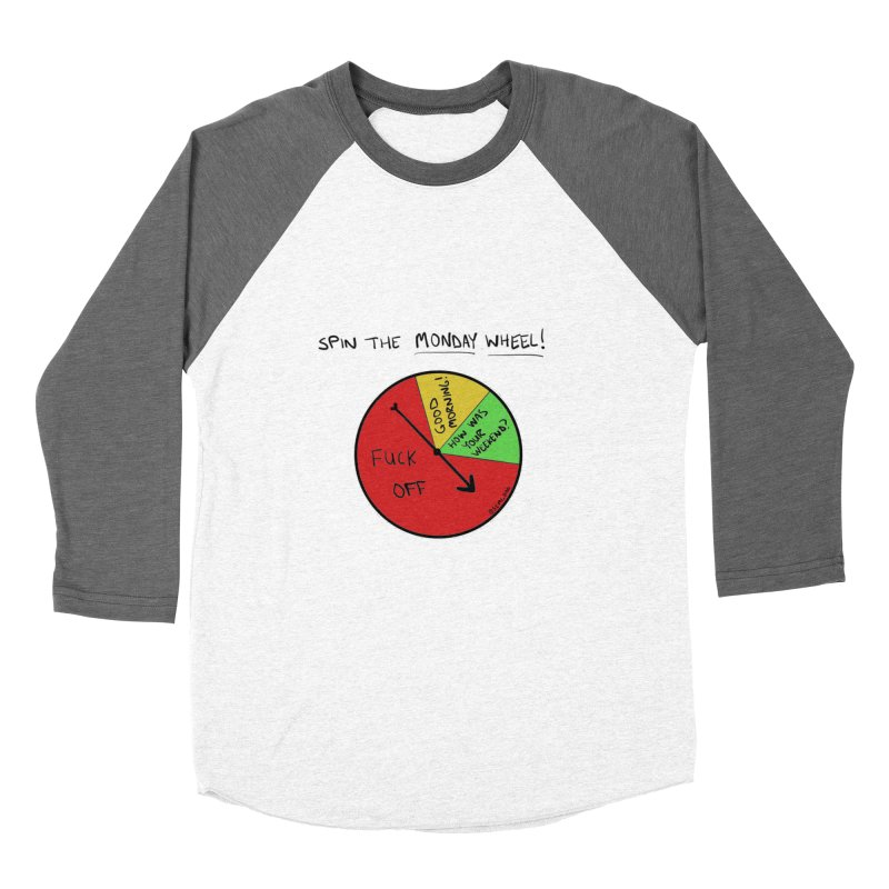 Spin The Monday Wheel Men's Baseball Triblend T-Shirt by Semi-Rad's Artist Shop