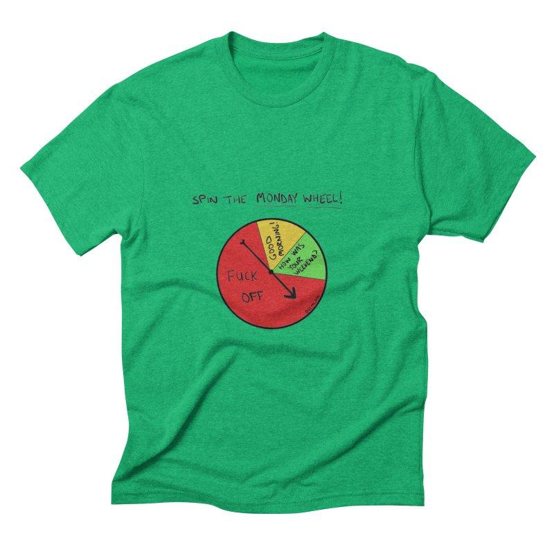 Spin The Monday Wheel Men's Triblend T-shirt by Semi-Rad's Artist Shop
