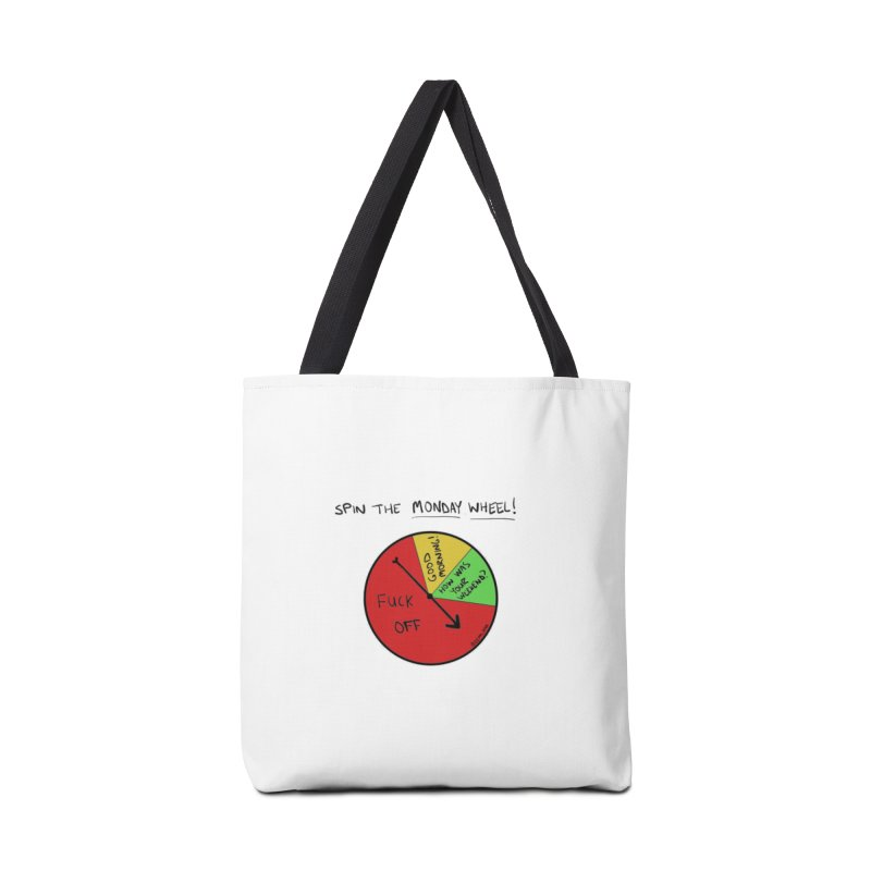 Spin The Monday Wheel Accessories Bag by Semi-Rad's Artist Shop