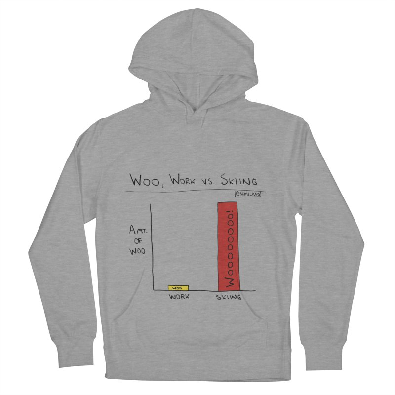 The Woo of Skiing Women's Pullover Hoody by Semi-Rad's Artist Shop