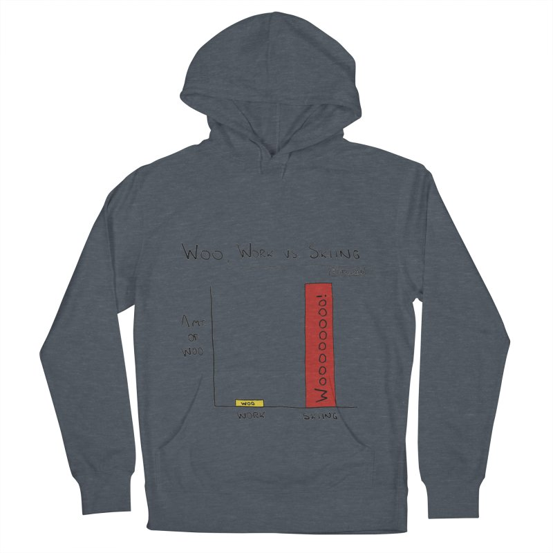 The Woo of Skiing Men's Pullover Hoody by Semi-Rad's Artist Shop
