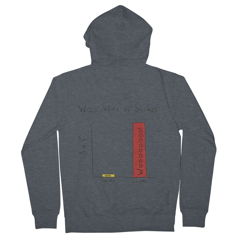 The Woo of Skiing Women's French Terry Zip-Up Hoody by Semi-Rad's Artist Shop