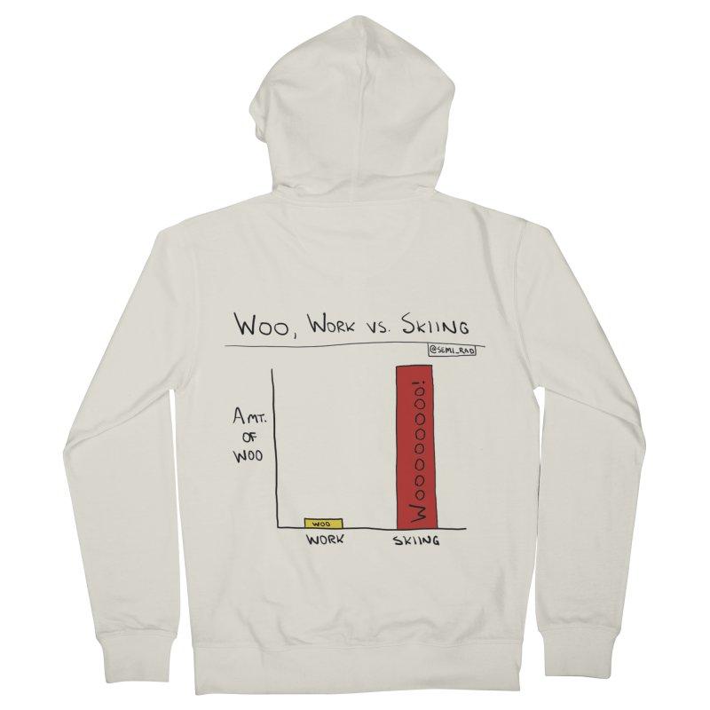 The Woo of Skiing Men's Zip-Up Hoody by Semi-Rad's Artist Shop