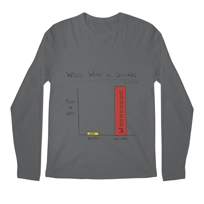 The Woo of Skiing Men's Longsleeve T-Shirt by Semi-Rad's Artist Shop